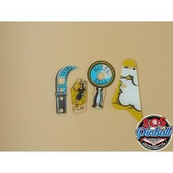 Décors flipper Hook plastic...